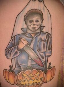 Майкл Майерс – фото тату 13.01.2021 №0028 -Michael Myers tattoo- tatufoto.com