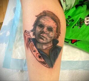 Майкл Майерс – фото тату 13.01.2021 №0031 -Michael Myers tattoo- tatufoto.com