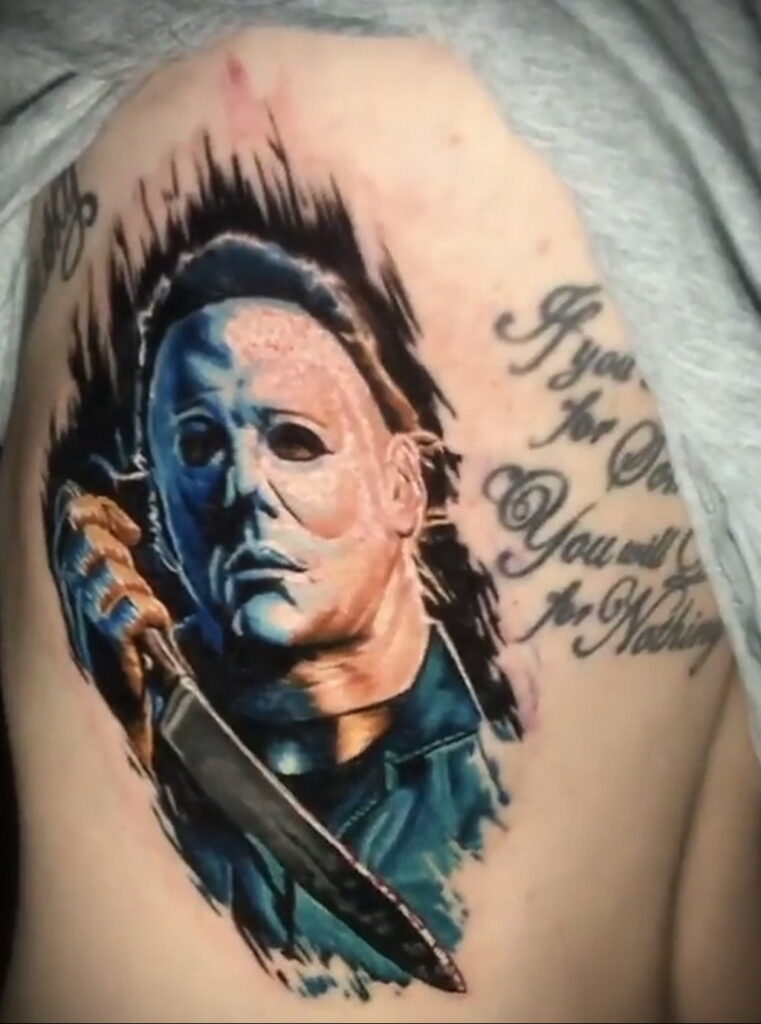 Майкл Майерс – фото тату 13.01.2021 №0035 -Michael Myers tattoo- tatufoto.com