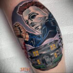 Майкл Майерс – фото тату 13.01.2021 №0044 -Michael Myers tattoo- tatufoto.com