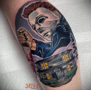 Майкл Майерс – фото тату 13.01.2021 №0044 -Michael Myers tattoo- tatufoto.com