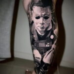 Майкл Майерс – фото тату 13.01.2021 №0051 -Michael Myers tattoo- tatufoto.com