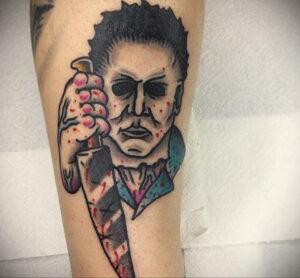 Майкл Майерс – фото тату 13.01.2021 №0055 -Michael Myers tattoo- tatufoto.com
