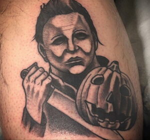Майкл Майерс – фото тату 13.01.2021 №0058 -Michael Myers tattoo- tatufoto.com