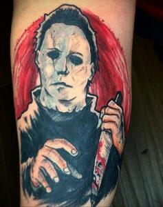 Майкл Майерс – фото тату 13.01.2021 №0062 -Michael Myers tattoo- tatufoto.com