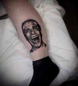 Патрик Бэйтмен – фото тату 13.01.2021 №0015 -Patrick Bateman tattoo- tatufoto.com