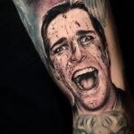 Патрик Бэйтмен – фото тату 13.01.2021 №0025 -Patrick Bateman tattoo- tatufoto.com