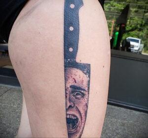 Патрик Бэйтмен – фото тату 13.01.2021 №0030 -Patrick Bateman tattoo- tatufoto.com