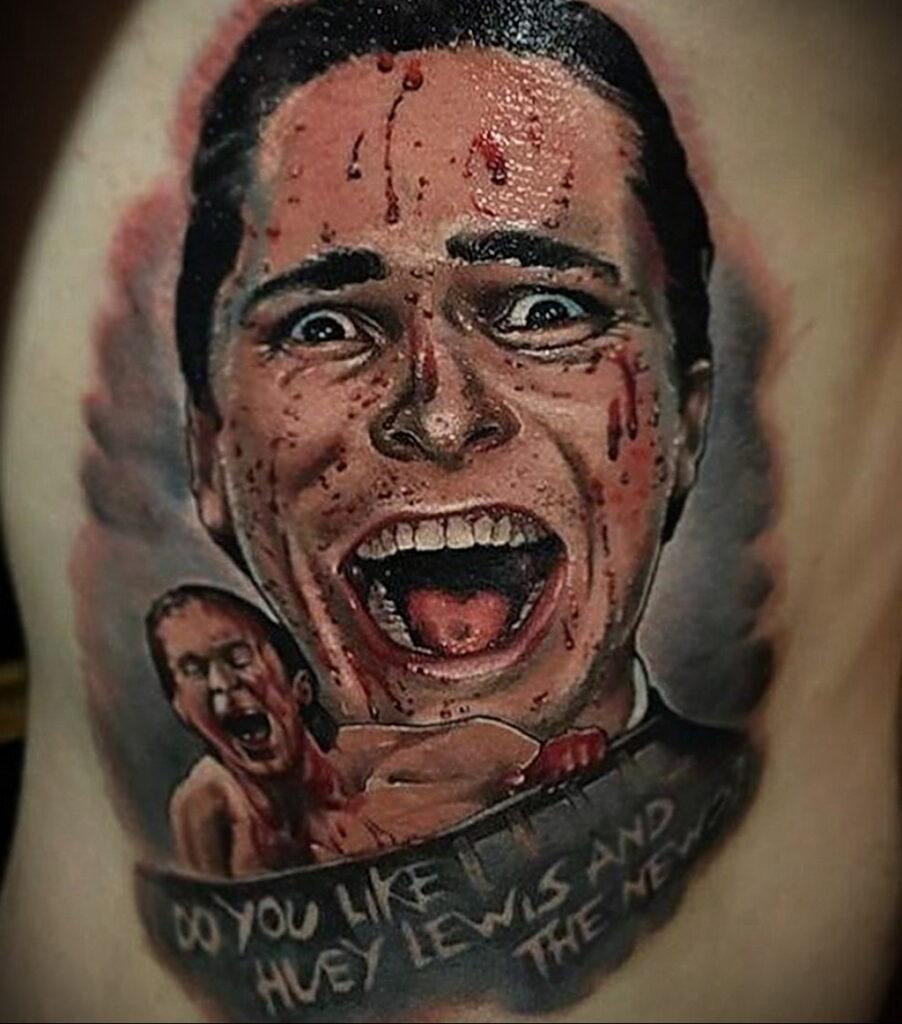 Патрик Бэйтмен – фото тату 13.01.2021 №0040 -Patrick Bateman tattoo- tatufoto.com