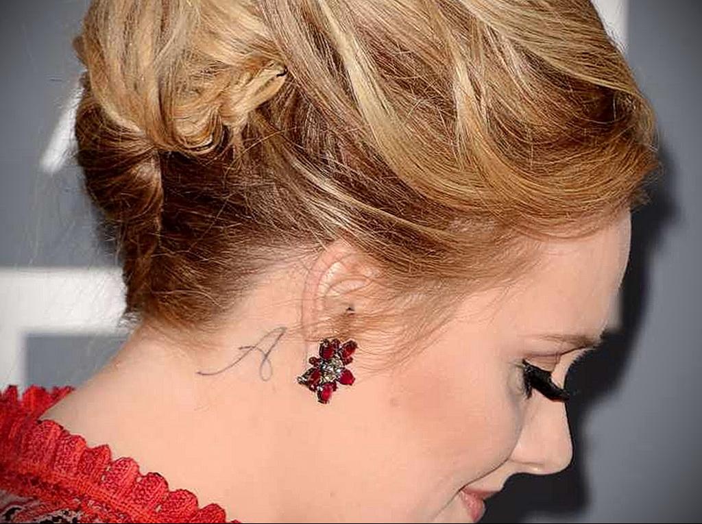 Тату Адель буква А - Adele Letter A Tattoo 2