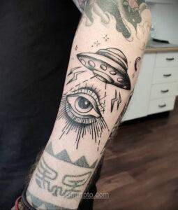 Тату астрономия и космос 11.01.2021 №0030 -astronomy and space tattoo- tatufoto.com