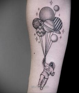 Тату астрономия и космос 11.01.2021 №0078 -astronomy and space tattoo- tatufoto.com