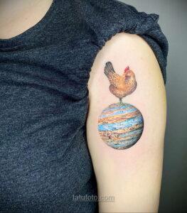 Тату астрономия и космос 11.01.2021 №0091 -astronomy and space tattoo- tatufoto.com