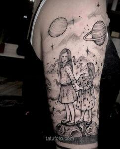 Тату астрономия и космос 11.01.2021 №0098 -astronomy and space tattoo- tatufoto.com