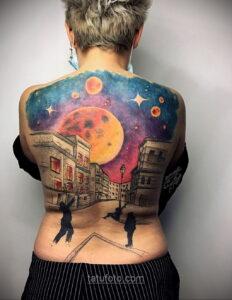 Тату астрономия и космос 11.01.2021 №0099 -astronomy and space tattoo- tatufoto.com