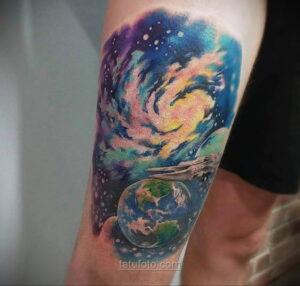 Тату астрономия и космос 11.01.2021 №0100 -astronomy and space tattoo- tatufoto.com