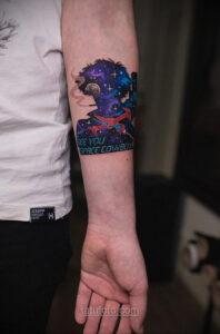 Тату астрономия и космос 11.01.2021 №0106 -astronomy and space tattoo- tatufoto.com