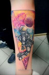 Тату астрономия и космос 11.01.2021 №0146 -astronomy and space tattoo- tatufoto.com