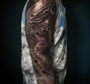 Тату астрономия и космос 11.01.2021 №0159 -astronomy and space tattoo- tatufoto.com