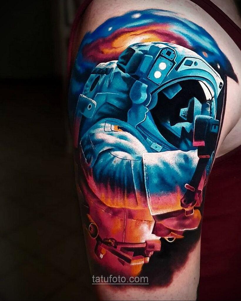 Тату астрономия и космос 11.01.2021 №0173 -astronomy and space tattoo- tatufoto.com