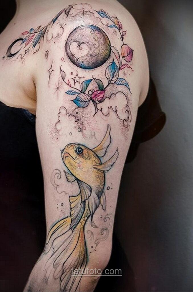 Тату астрономия и космос 11.01.2021 №0176 -astronomy and space tattoo- tatufoto.com