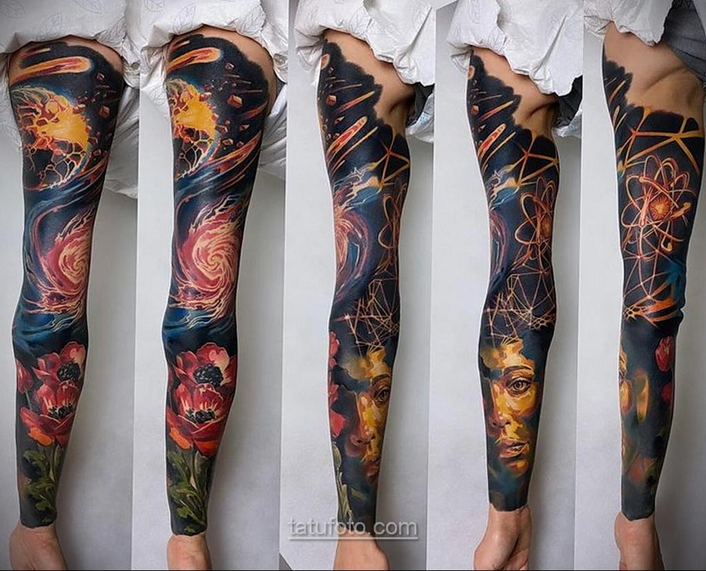 Тату астрономия и космос 11.01.2021 №0177 -astronomy and space tattoo- tatufoto.com