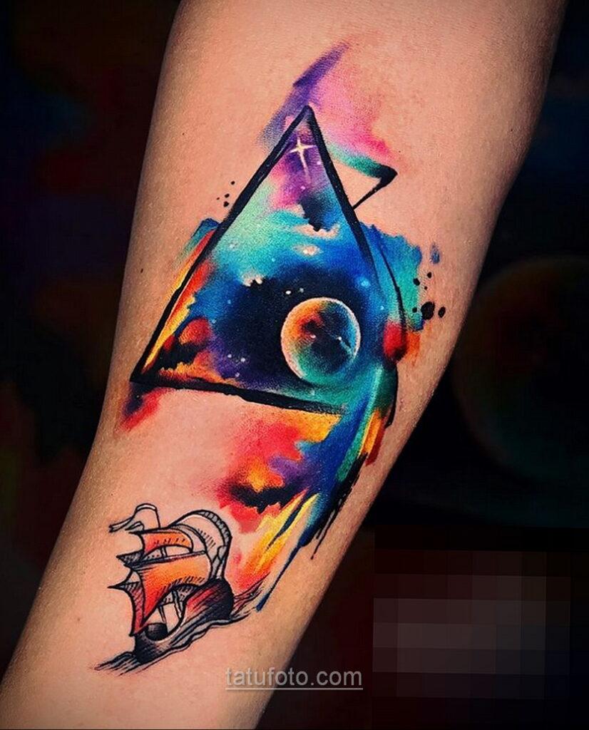 Тату астрономия и космос 11.01.2021 №0181 -astronomy and space tattoo- tatufoto.com