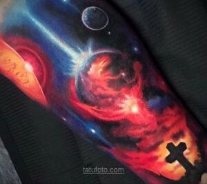 Тату астрономия и космос 11.01.2021 №0189 -astronomy and space tattoo- tatufoto.com