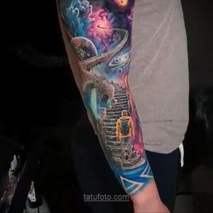 Тату астрономия и космос 11.01.2021 №0213 -astronomy and space tattoo- tatufoto.com