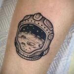Тату астрономия и космос 11.01.2021 №0224 -astronomy and space tattoo- tatufoto.com