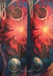 Тату астрономия и космос 11.01.2021 №0228 -astronomy and space tattoo- tatufoto.com