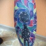Тату астрономия и космос 11.01.2021 №0234 -astronomy and space tattoo- tatufoto.com