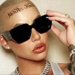 Тату на лбу ЭмберРоуз - Amber Rose Forehead Tattoo 2