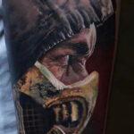 Тату скорпион мортал комбат 16.01.2021 №0001 -scorpion mortal tattoo- tatufoto.com