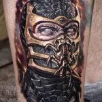 Тату скорпион мортал комбат 16.01.2021 №0012 -scorpion mortal tattoo- tatufoto.com