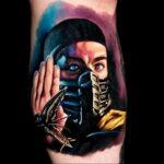 Тату скорпион мортал комбат 16.01.2021 №0020 -scorpion mortal tattoo- tatufoto.com