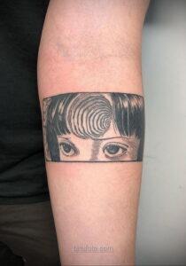 Тату ужас Дзюндзи Ито 12.01.2021 №0003 -horror tattoo Junji Ito- tatufoto.com