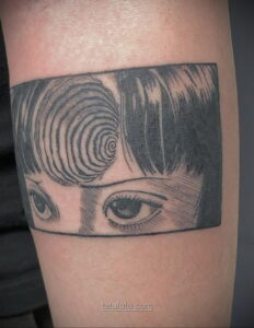 Тату ужас Дзюндзи Ито 12.01.2021 №0004 -horror tattoo Junji Ito- tatufoto.com
