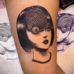 Тату ужас Дзюндзи Ито 12.01.2021 №0008 -horror tattoo Junji Ito- tatufoto.com