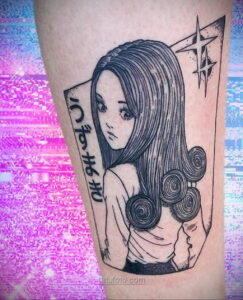 Тату ужас Дзюндзи Ито 12.01.2021 №0016 -horror tattoo Junji Ito- tatufoto.com