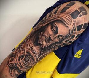 Фото Тату с Иисусом Христом 11.01.2021 №10001 -jesus tattoo- tatufoto.com