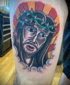 Фото Тату с Иисусом Христом 11.01.2021 №10018 -jesus tattoo- tatufoto.com