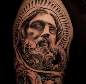 Фото Тату с Иисусом Христом 11.01.2021 №10029 -jesus tattoo- tatufoto.com