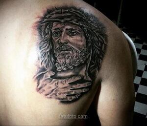 Фото Тату с Иисусом Христом 11.01.2021 №10036 -jesus tattoo- tatufoto.com