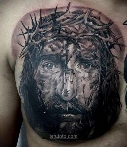 Фото Тату с Иисусом Христом 11.01.2021 №10062 -jesus tattoo- tatufoto.com