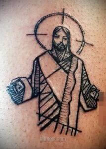 Фото Тату с Иисусом Христом 11.01.2021 №10069 -jesus tattoo- tatufoto.com