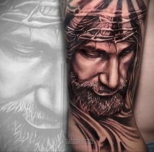 Фото Тату с Иисусом Христом 11.01.2021 №10091 -jesus tattoo- tatufoto.com