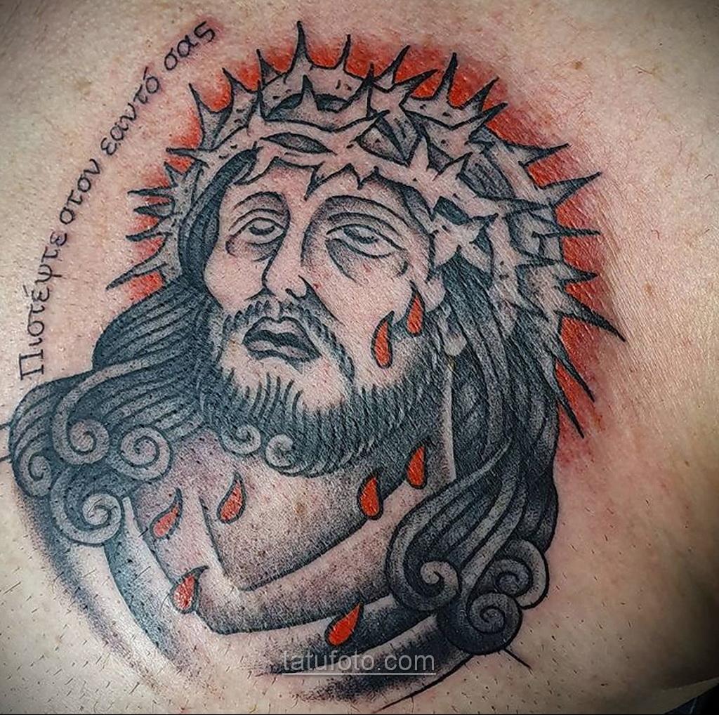 Фото Тату с Иисусом Христом 11.01.2021 №10099 -jesus tattoo- tatufoto.com