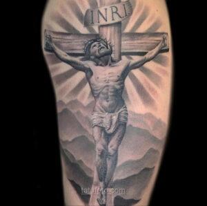 Фото Тату с Иисусом Христом 11.01.2021 №10109 -jesus tattoo- tatufoto.com