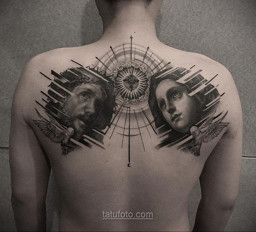 Фото Тату с Иисусом Христом 11.01.2021 №10124 -jesus tattoo- tatufoto.com